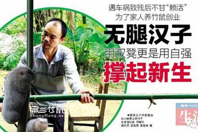 农村竹鼠养殖创业潘锦义
