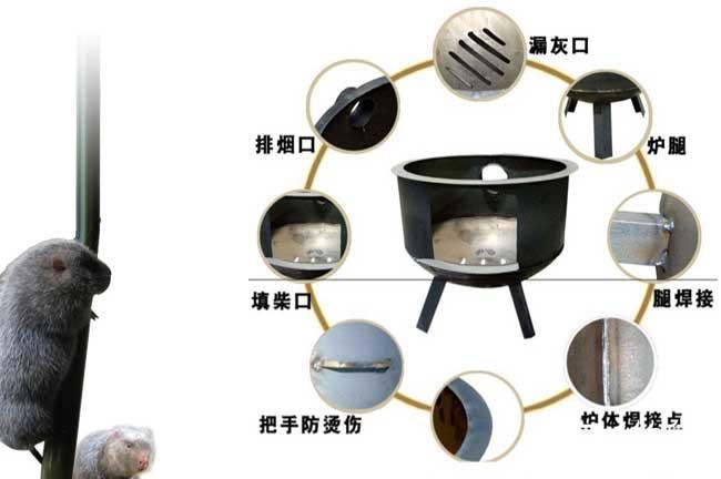 烧柴火取暖设备